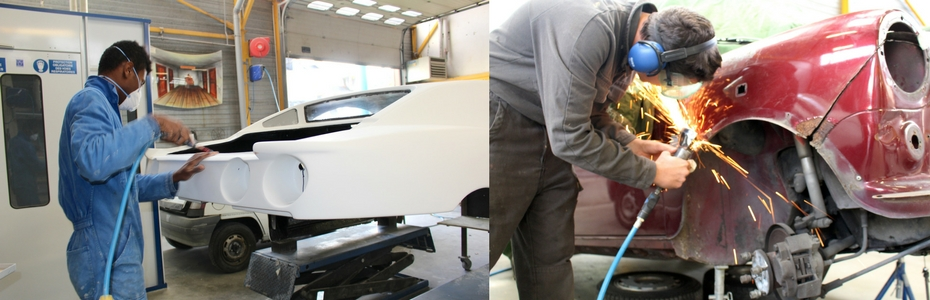 Nos ateliers carrosserie et Peinture