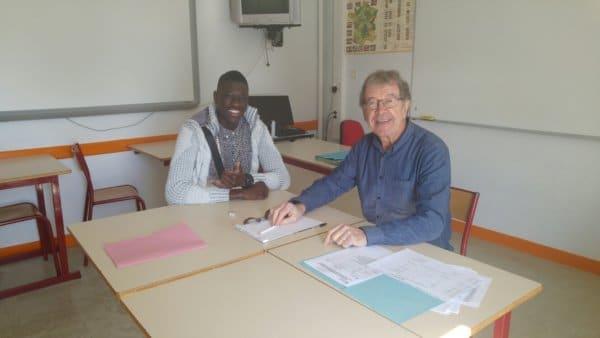 Djibril Cissé 2h et Yvon Perrot Conseiller EGEE